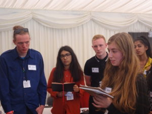 Mayla presents her groups idea for a social enterprise at the House of Lords